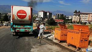 Onikişubat Belediyesi'nden Çöp Konteynerlerine Hijyen