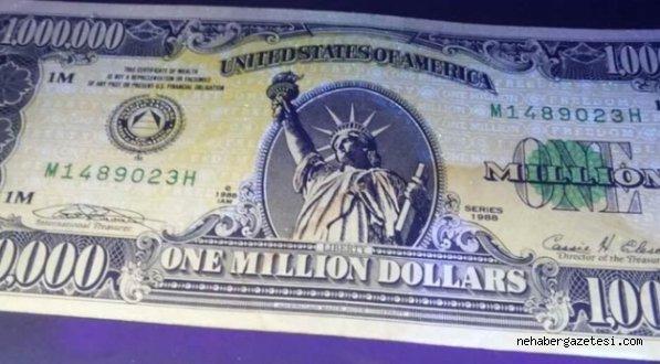 ABD'de Prestij İçin Basılan 1 Milyonluk Banknot Türkiye'de Yakalandı