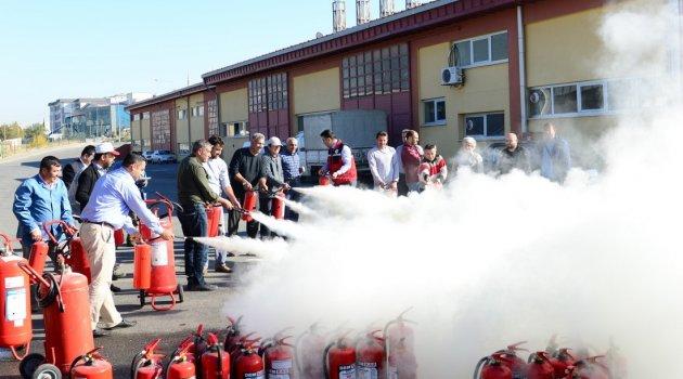 Üniversitemizde Yangın Tatbikatları Başarıyla Gerçekleştirildi